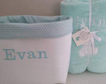 fabric basket personalized storage toilet baby