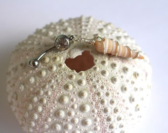 Mermaid Belly Ring// Beachy Belly Ring// Beach Jewelry