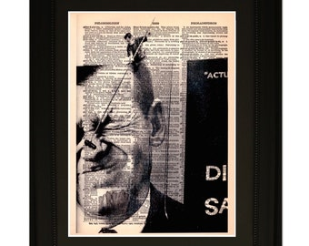 "Coincidence.""Dictionary Art Print. Vintage Upcycled Antique Book Page. Fits 8""x10"" frame"