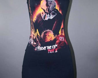 Friday The 13th Dress Horror Movie Modified Tshirt Jason Voorhees Cult Goth Fashion Slasher 80s