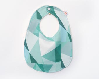 Organic Bib  - SALE  - Baby Bib - Baby Gift - Handmade Bib - Geometric Bib