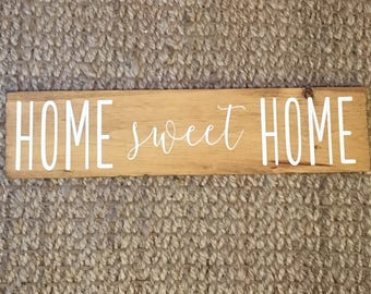 "Home Sweet Home Sign | Home sweet home | home sign | home | Rustic Home Sign | Wood Home Sign | Wooden Home Sign 6"" x 24"""