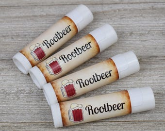 Rootbeer Flavored Lip Balm - Handmade All Natural Lip Balm