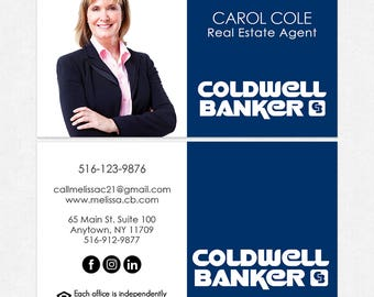 Coldwell banker etsy coldwell banker real estate business cards thick color both sides free ups ground reheart Choice Image