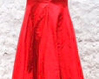 Hot red embriodered gown