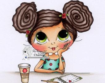 INSTANT DOWNLOAD Digital Digi Stamps Big Eye Big Head Dolls NEW Besties img695remix Doodle Butt My Besties By Sherri Baldy