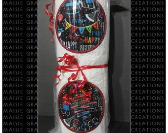 Celebration Paper Towels, Novelty Gift, Birthday Gift, Fabric Drink Coasters