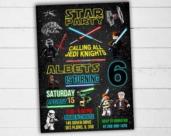 Star Wars Invitation, Star Wars Birthday Invitation, Star Wars Party Invitation, Star Wars Birthday, Star Wars Party, Star Wars Card