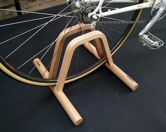 Pont - floor bicycle stand / wooden floor bike rack