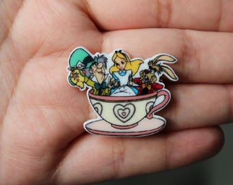 Alice Inspired Brooches