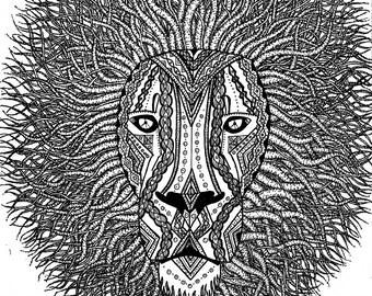 Cosmic Lion Print