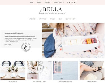 Responsive Wordpress Theme — Genesis Child Theme - Bella Banana —  Wordpress Blog Theme — Feminine Wordpress Theme