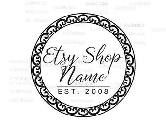 Business Logo - Black and White Logo - Shop Logo - Etsy Branding - Etsy Store Branding - Shop Icon -  Etsy Shop Icon - Logo Style 305