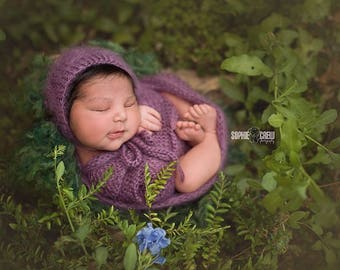 Newborn wrap  / Newborn photo prop wrap / newborn mohair wrap / stretchable wrap / newborn posing outfit / basket stuffer / wrap set