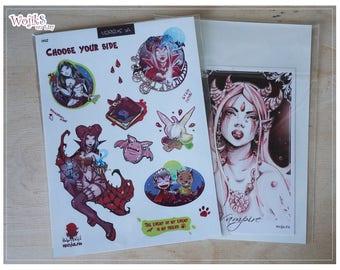Sticker sheet 02 - Versus. Vampires