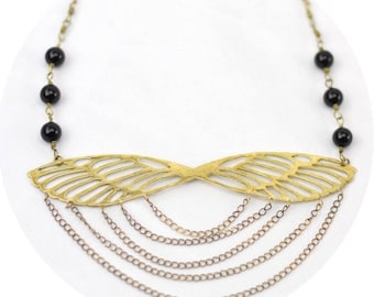 Cicada Necklace in Gold