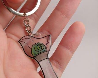 Handmade GOT7 Ahgase Lightstick Keychain [Shrinking Plastic/Shrinky Dinks]