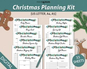 Christmas Planner, Christmas Printables, Holiday Planner, Printable Christmas Planner, Christmas Planning, A5 Christmas Planner Printable