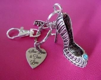 Shoe Keychain, High Heel Keychain, Personalized Shoe Keychain, Personalized High Heel Keychain, Shoe Purse Accessory, High Heel Charm, K80