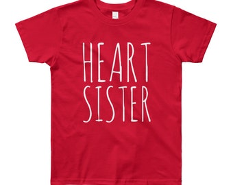 Heart Sister //  Youth 8-12 yrs T-Shirt // CHD Awareness
