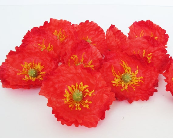 24 red poppies artificial flowers silk poppy 26 flower wedding 24 red poppies artificial flowers silk poppy 26 flower wedding anemones supplies faux fake anemone from royalflowersstudio on etsy studio mightylinksfo