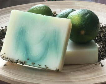 Vegan Peppermint Lime Cold Processed Soap