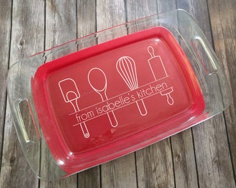 Kitchen Utensil From The Kitchen Engraved Pyrex Dish