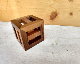 Caged Knot Wooden Puzzle
