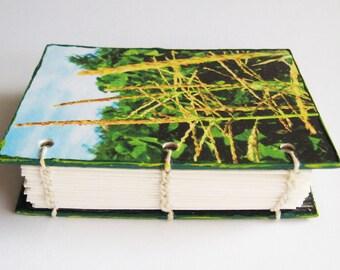 Small Notebook, Pocket size diary, ACEO journal, Garden Journal, Blank Book, Handmade Mini Book, Sweet Corn, Pocket Notebook