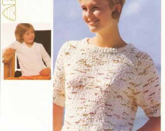 Summer Sweater - Round and V Neck Sweater Knitting Pattern - ORIGINAL