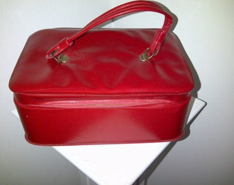 Vintage Vinyl Make Up Case