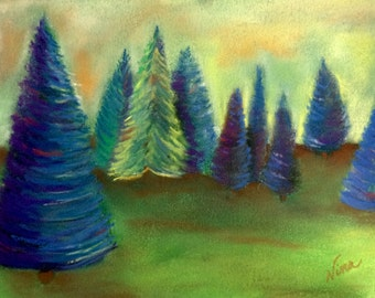 "Soft Pastel, drawing, 9""x12"", canvas paper, original, unframed"