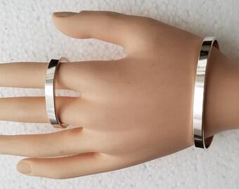 Mother Daughter Sterling silver bracelet set