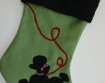 """Poodle """"Skirt"""" Christmas Stocking"""