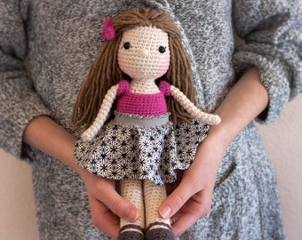 Crocheted Doll, amigurumi doll, handmade doll