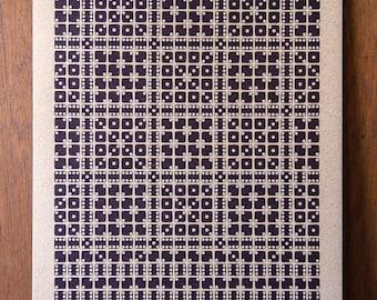 Beta Eridani Letterpress Print on Chipboard
