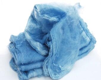 Mawatas Silk Hankies Royal Blue Medium - 10 grams