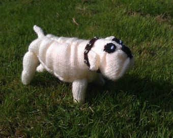 Knitted Bulldog White