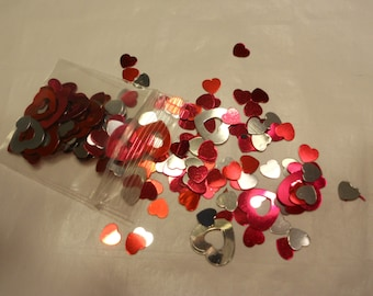 bag of assorted heart confetti / sequins (5)