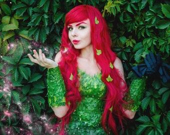 Poison Ivy cosplay costume, DC comics, Batman, cartoon, Pamela Lillian Isley, Halloween costume