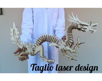 3d Puzzle: Chinese dragon