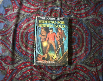 The Hardy Boys Vintage Hardcover Book. Hunting For Hidden Gold By Franklin Dixon 1963 Hardy Boys Book. Vintage Hardy Boys Book Gift.