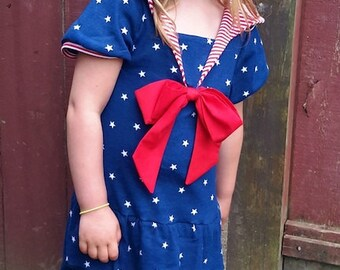 All Hands on Deck PDF pattern - Ellie Inspired knit sailor outfit pattern - sizes 1-16