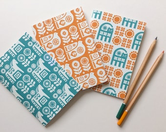 HALF PRICE / Scandinavian Notebooks / Stocking Filler / Cat Notebook / Horse Notebook / Bird Notebook / Pocket Notebook / SECONDS