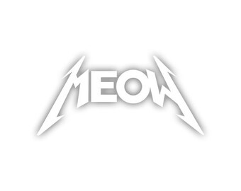 MEOW decal