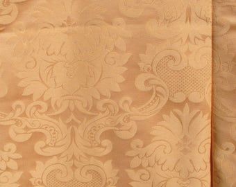 "2 1/2 yds of 56"" Orange Damask Fabric"