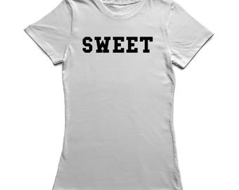Sweet Plain And Simple Women's White T-shirt