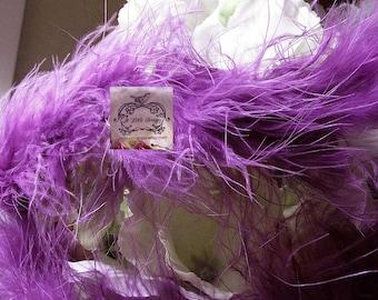 Marabou Boa Feathers Light Royal Purple