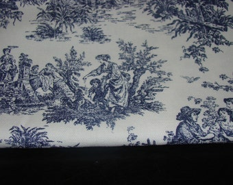 Toile Collection in Navy Blue table runner, wedding table runner-custom sizes available