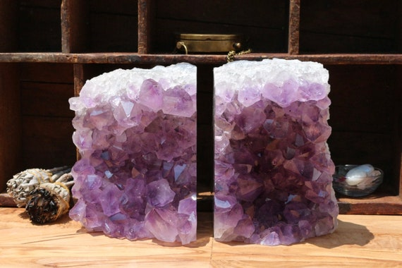 Extra Large Amethyst Geode Bookends 13 pounds!